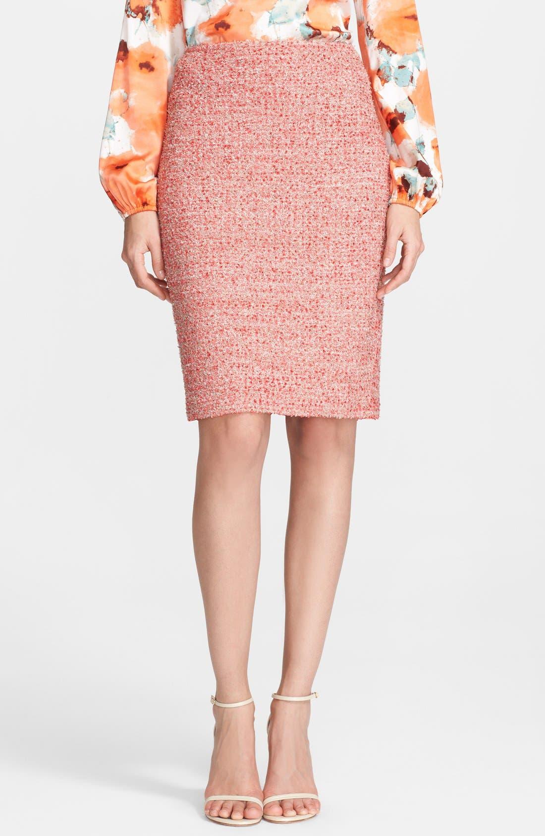 Main Image - St. John Collection Eyelash Sparkle Knit Pencil Skirt