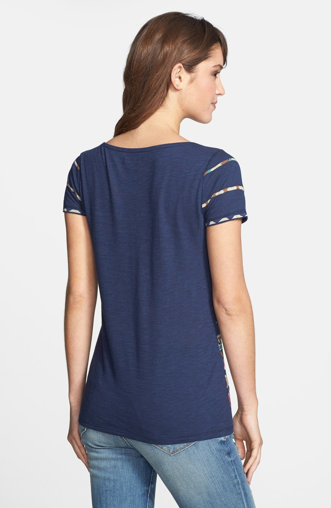 Alternate Image 2  - Lucky Brand Print Boatneck Tee