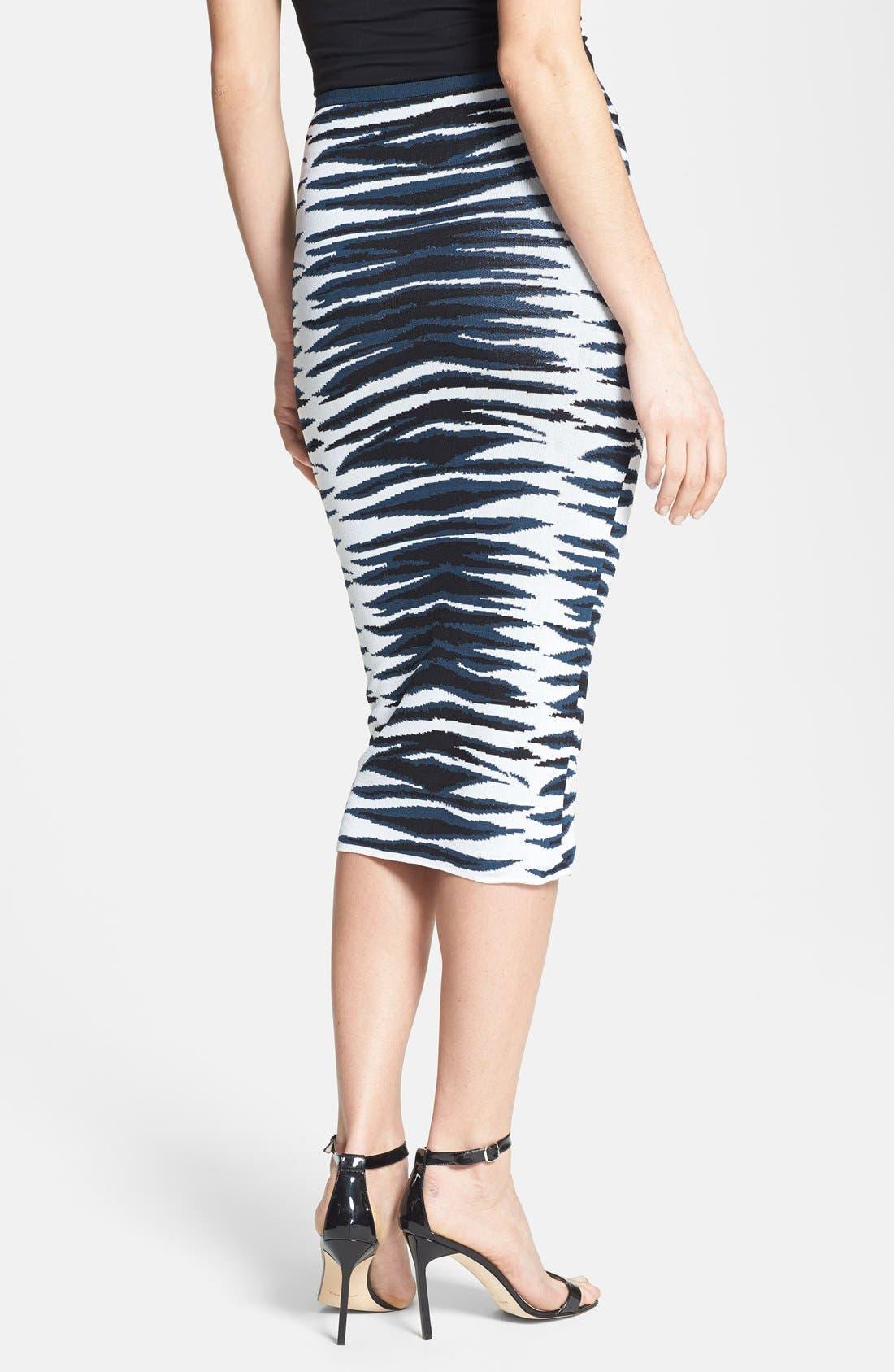 Alternate Image 2  - Milly Stripe Knit Midi Skirt