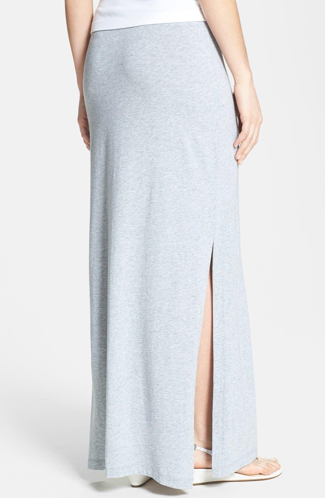 Alternate Image 2  - MICHAEL Michael Kors Side Slit Stretch Knit Maxi Skirt