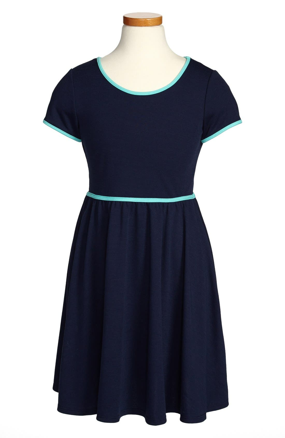 Alternate Image 1 Selected - Soprano Cap Sleeve Knit Dress (Big Girls)