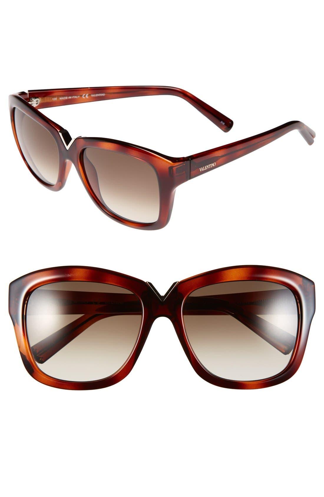 Alternate Image 1 Selected - Valentino 55mm Retro Sunglasses