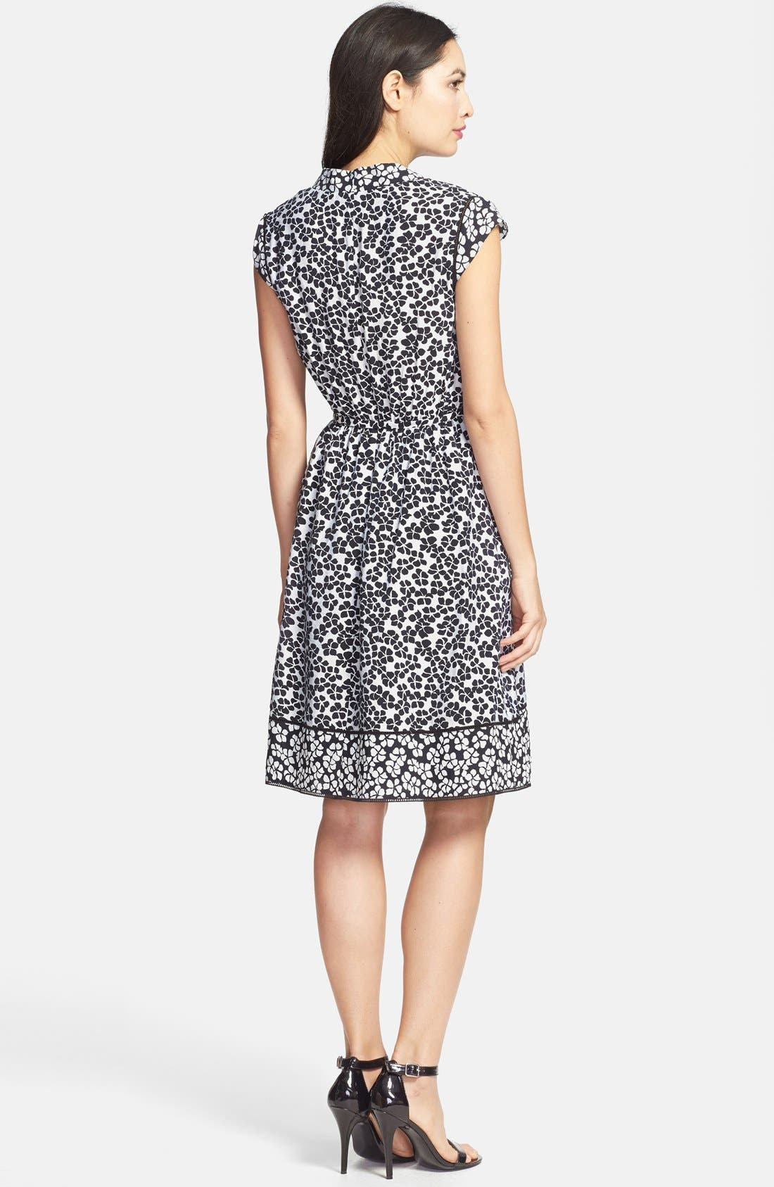 Alternate Image 2  - Adrianna Papell Floral Print Faux Wrap Dress