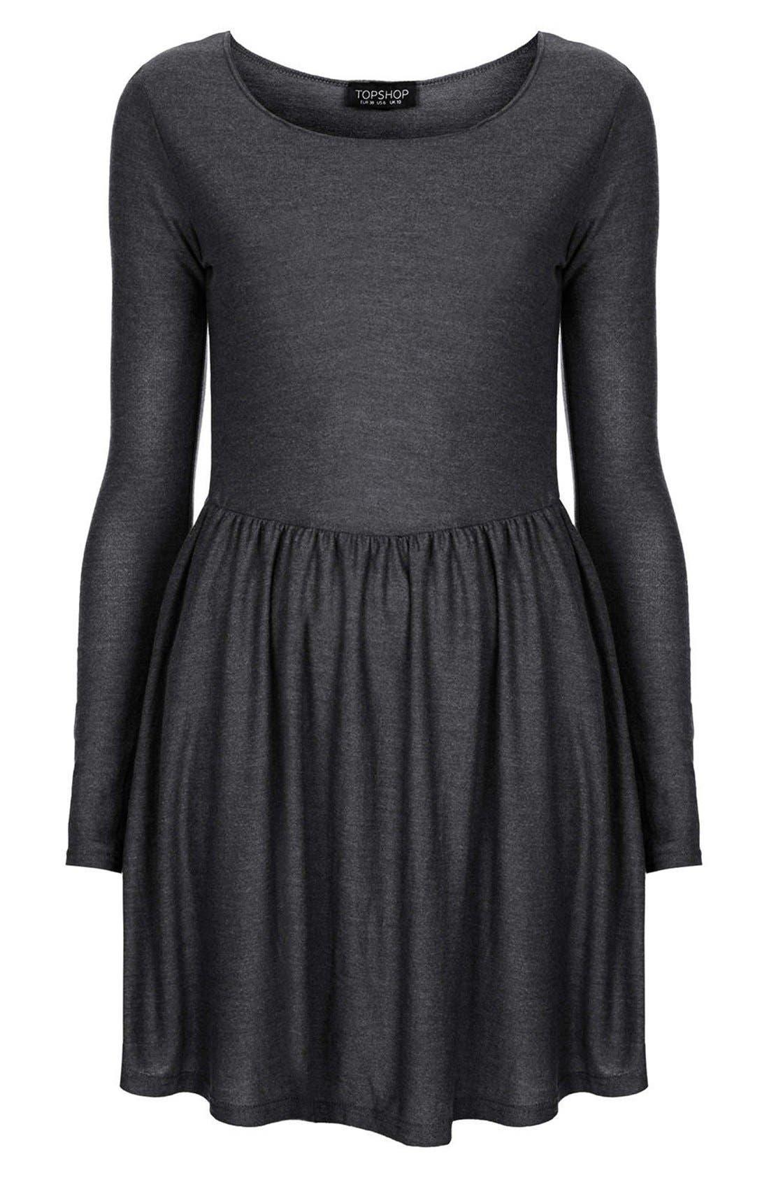 Alternate Image 3  - Topshop Long Sleeve Jersey Skater Dress