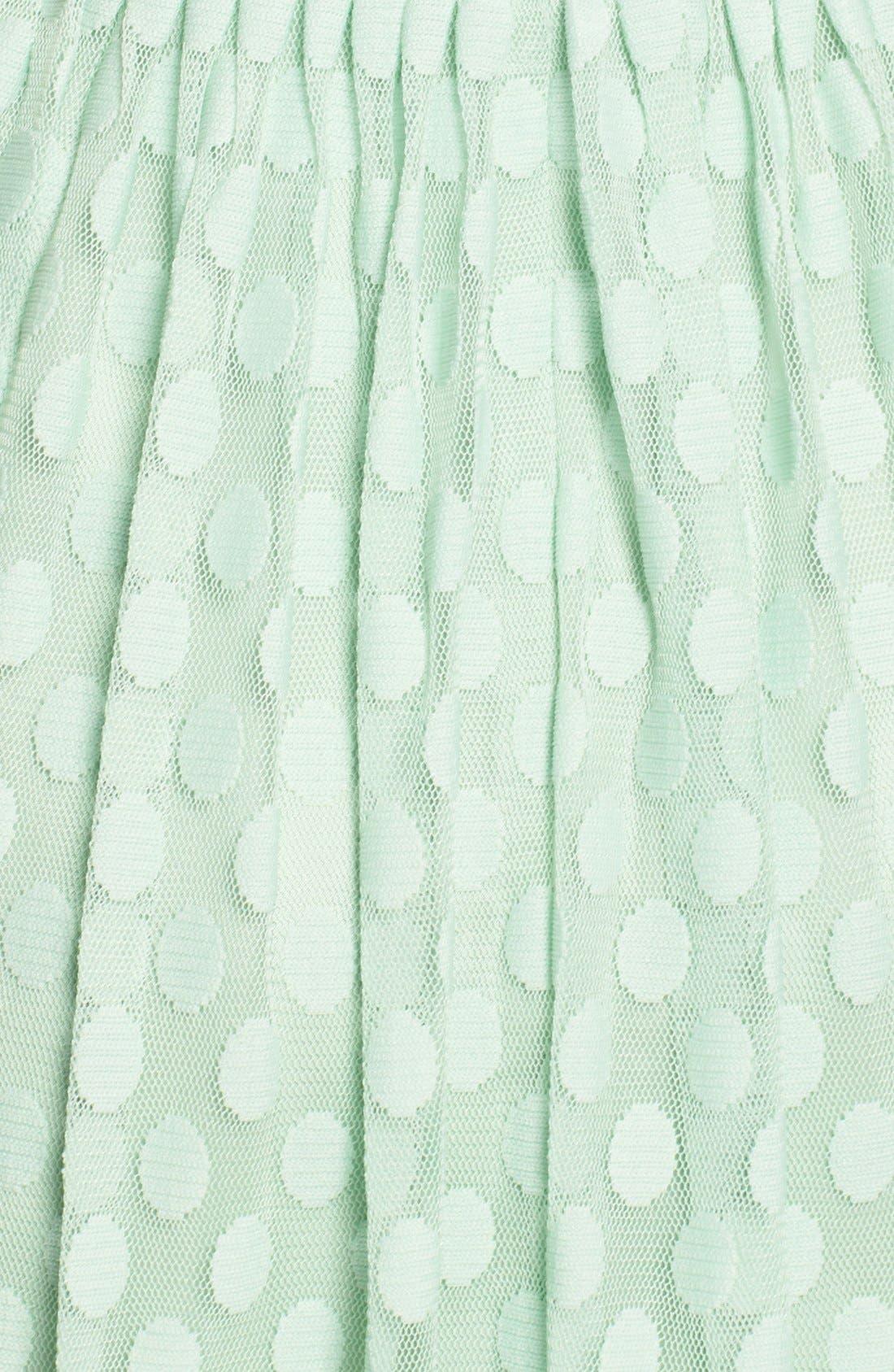 Alternate Image 4  - Eliza J Polka Dot Mesh Fit & Flare Dress