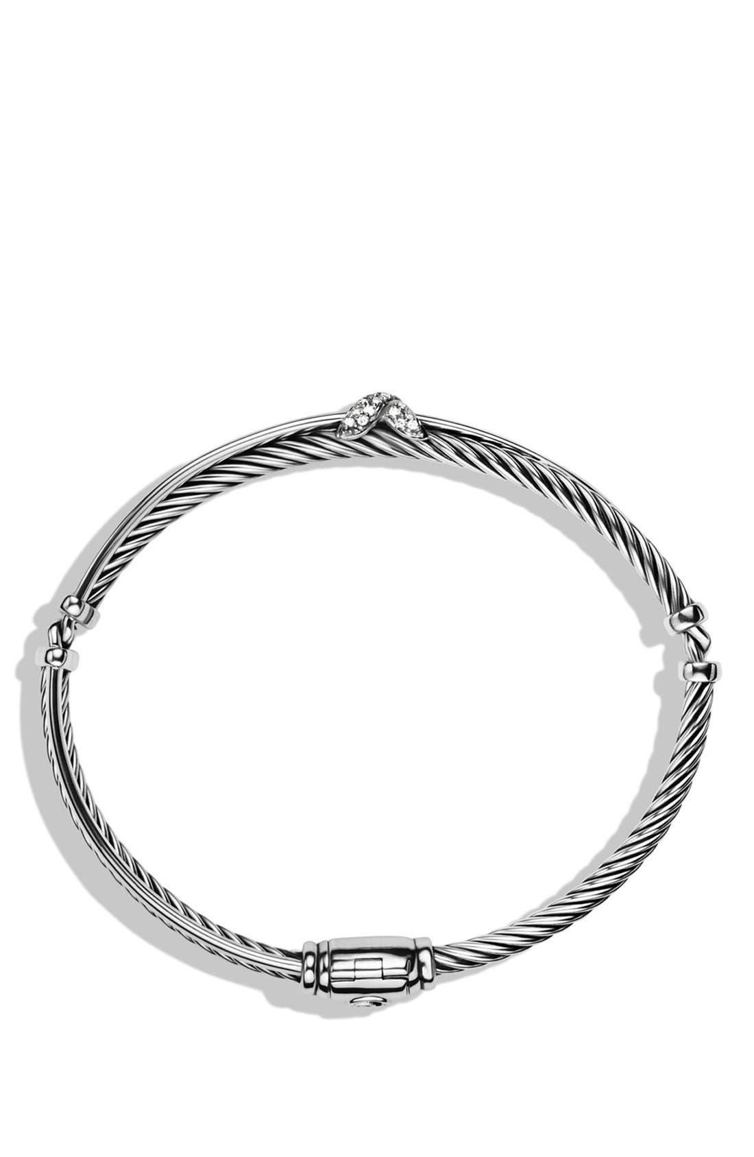 Alternate Image 2  - David Yurman Petite 'X' Crossover Bracelet with Diamonds