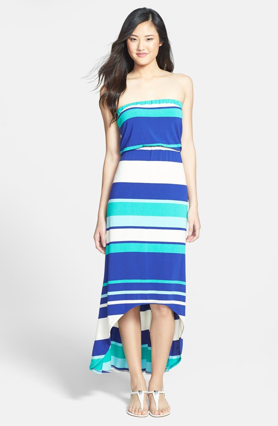 Alternate Image 1 Selected - LAmade Stripe Strapless Maxi Dress