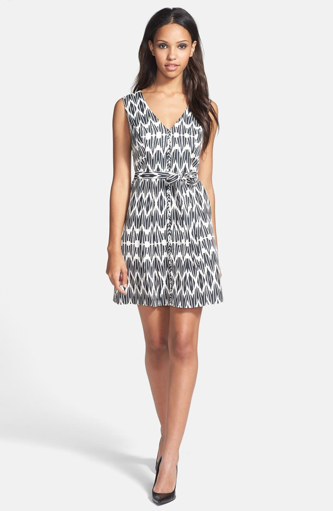 Main Image - Plenty by Tracy Reese 'Ashley' Print Faille Fit & Flare Dress (Petite)