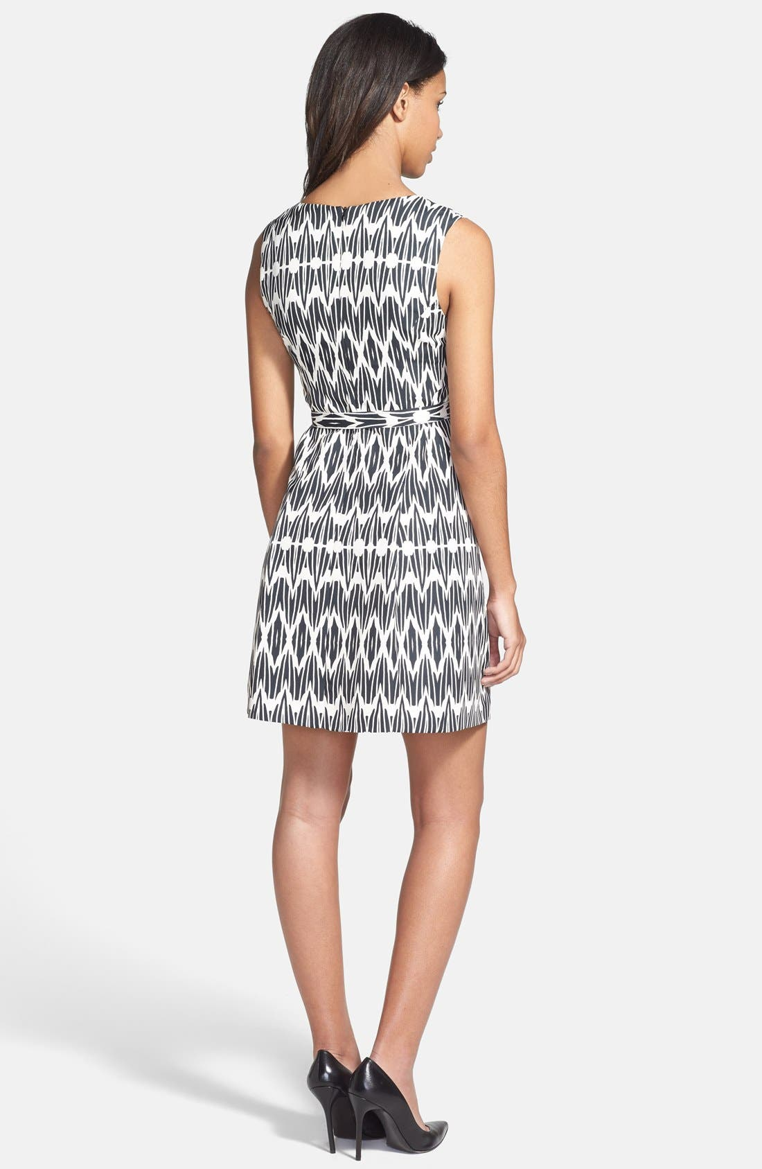 Alternate Image 2  - Plenty by Tracy Reese 'Ashley' Print Faille Fit & Flare Dress (Petite)