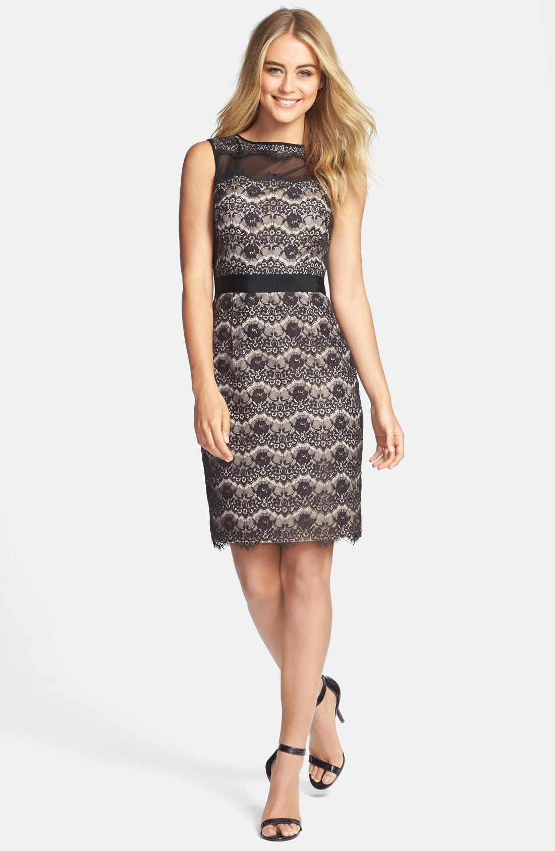 Alternate Image 3  - Maggy London Floral Lace Sheath Dress (Regular & Petite)