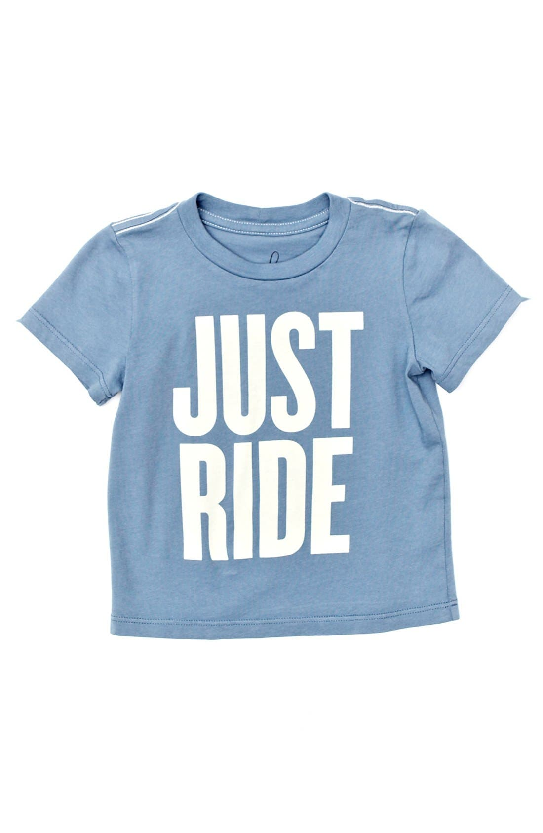 Alternate Image 1 Selected - Peek 'Just Ride' T-Shirt (Baby Boys)
