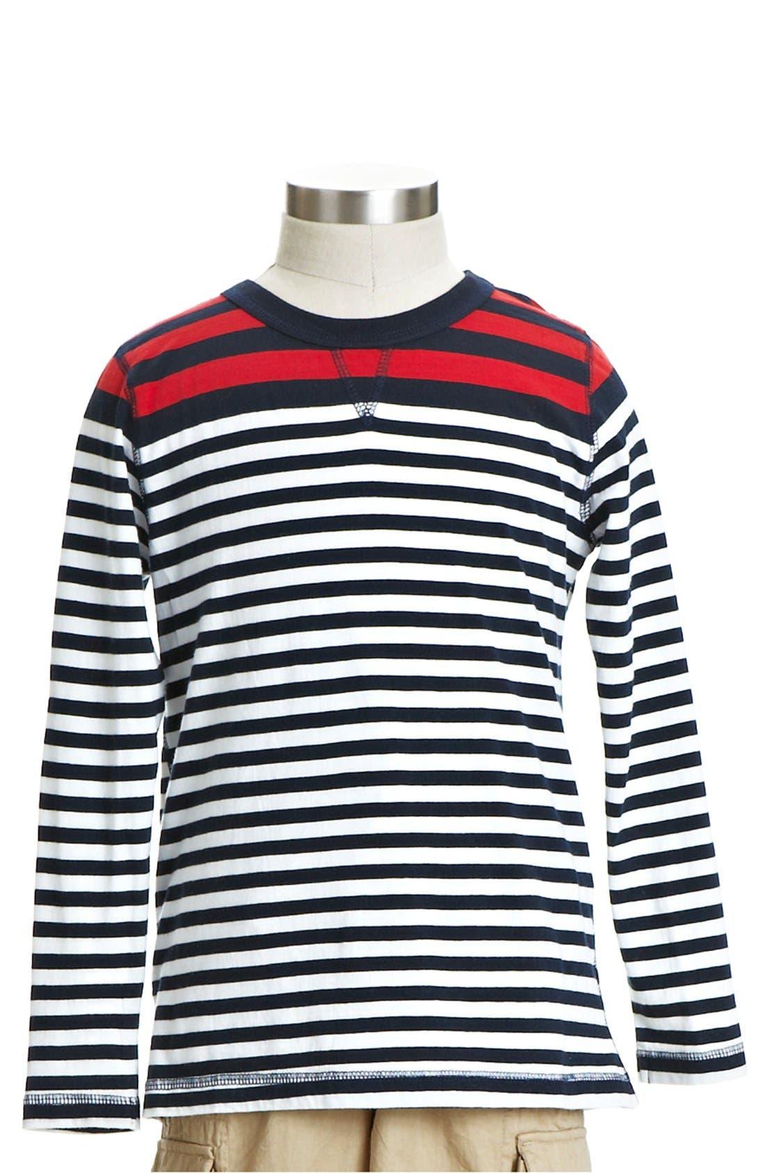Alternate Image 1 Selected - Peek 'Irving' Stripe T-Shirt (Toddler Boys, Little Boys & Big Boys)