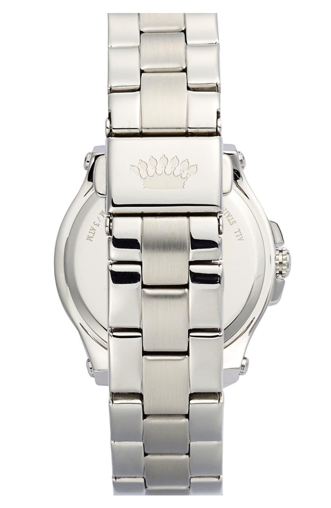 Alternate Image 2  - Juicy Couture 'Pedigree' Crystal Bezel Bracelet Watch, 32mm