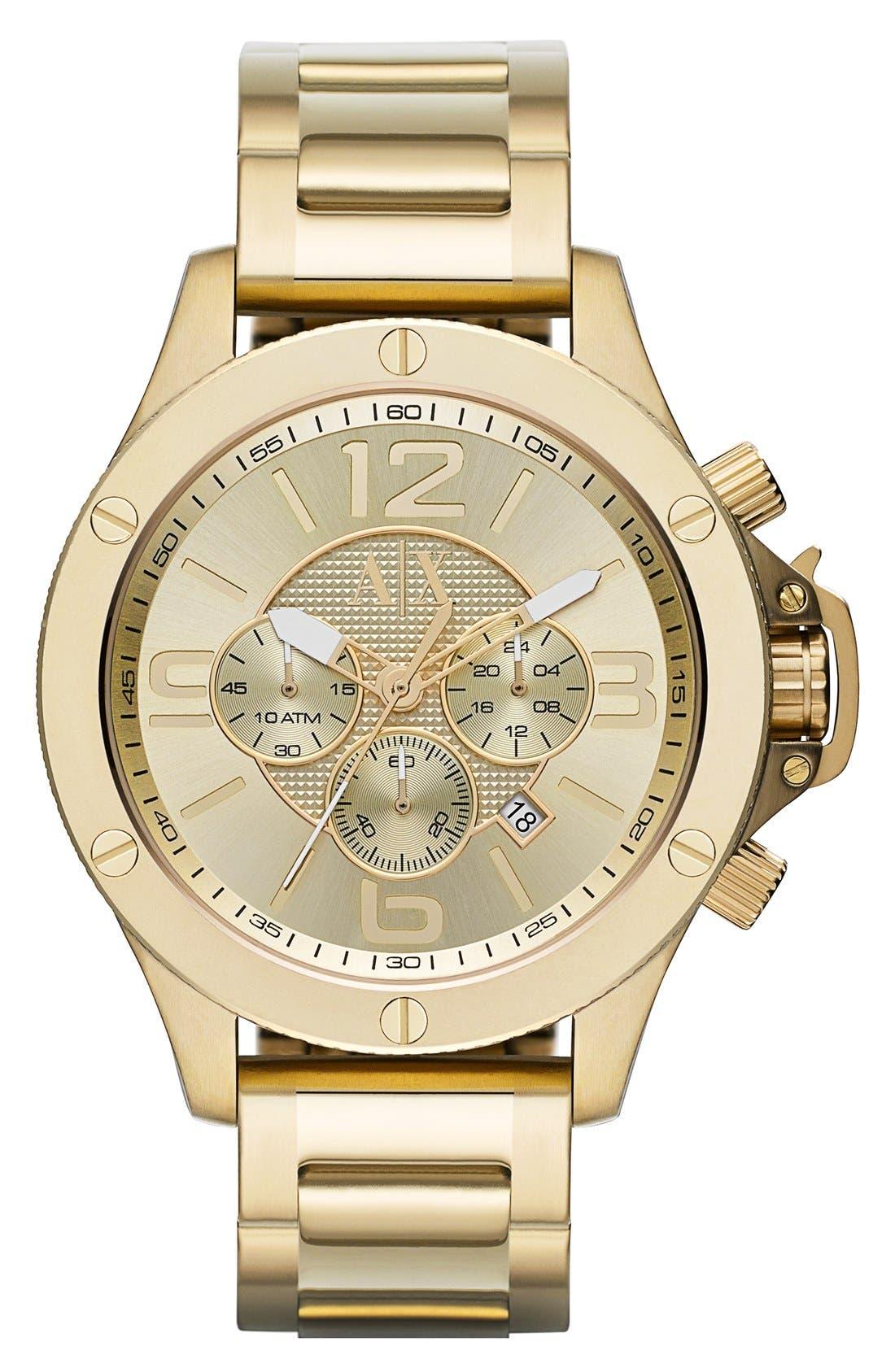Main Image - AX Armani Exchange Chronograph Bracelet Watch, 48mm