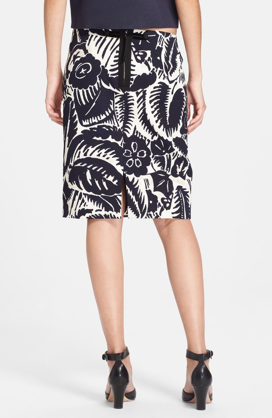 Alternate Image 2  - MARC JACOBS Print Piqué Pencil Skirt