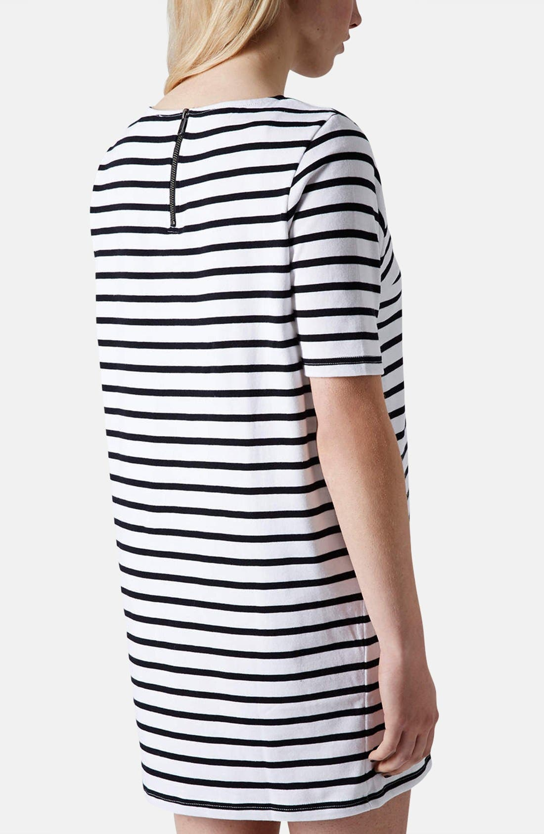 Alternate Image 2  - Topshop Stripe Cotton Maternity Tunic Dress