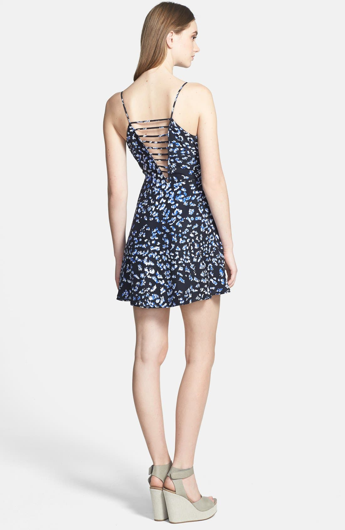 Alternate Image 2  - Parker 'Jensen' Print Silk Fit & Flare Dress