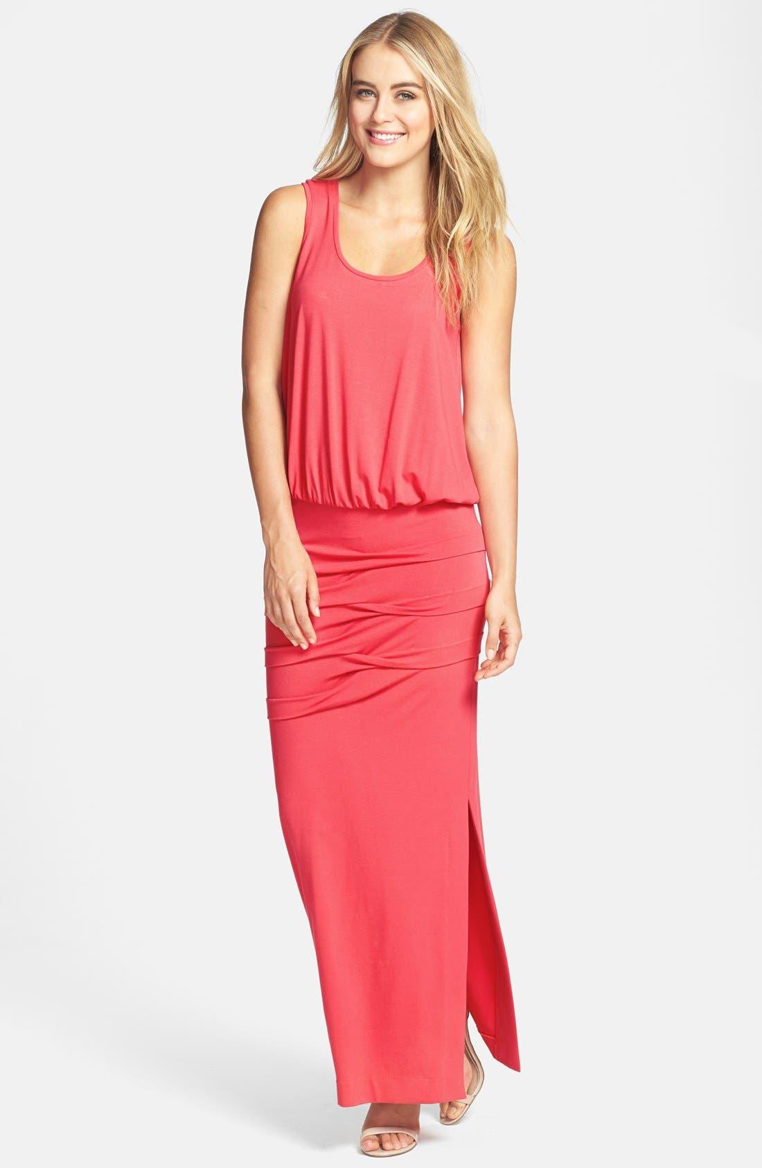 Main Image - Nicole Miller Blouson Jersey Maxi Dress