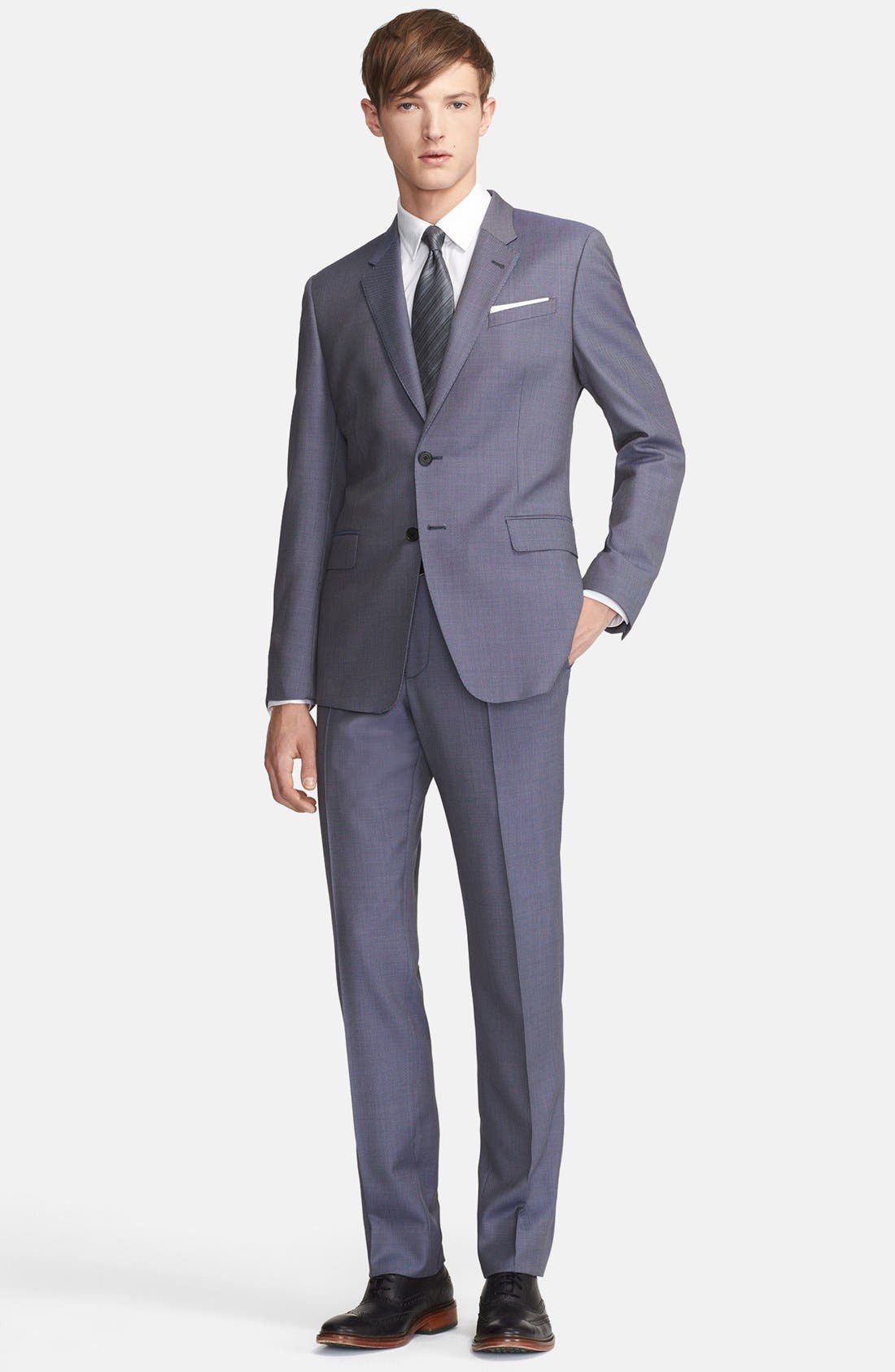 Main Image - Paul Smith London 'Byard' Bird's Eye Wool Suit