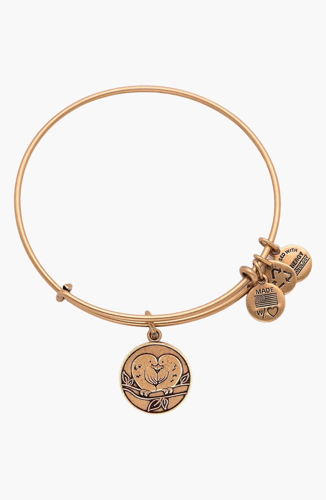 Alternate Image 2  - Alex and Ani 'Love Birds' Expandable Wire Bangle