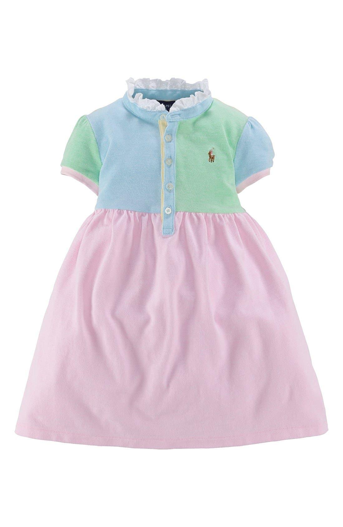 Main Image - Ralph Lauren Colorblock Dress (Toddler Girls)