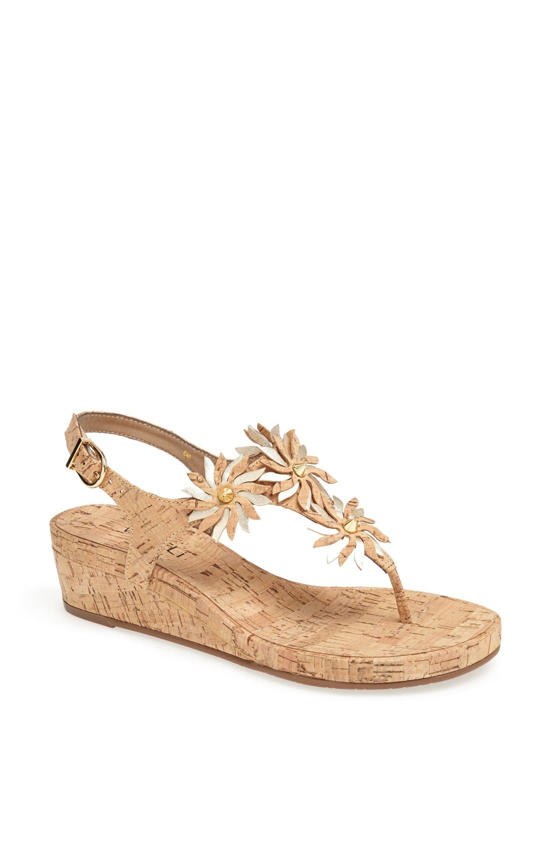 Alternate Image 1 Selected - VANELi 'Kenan' Wedge Thong Sandal