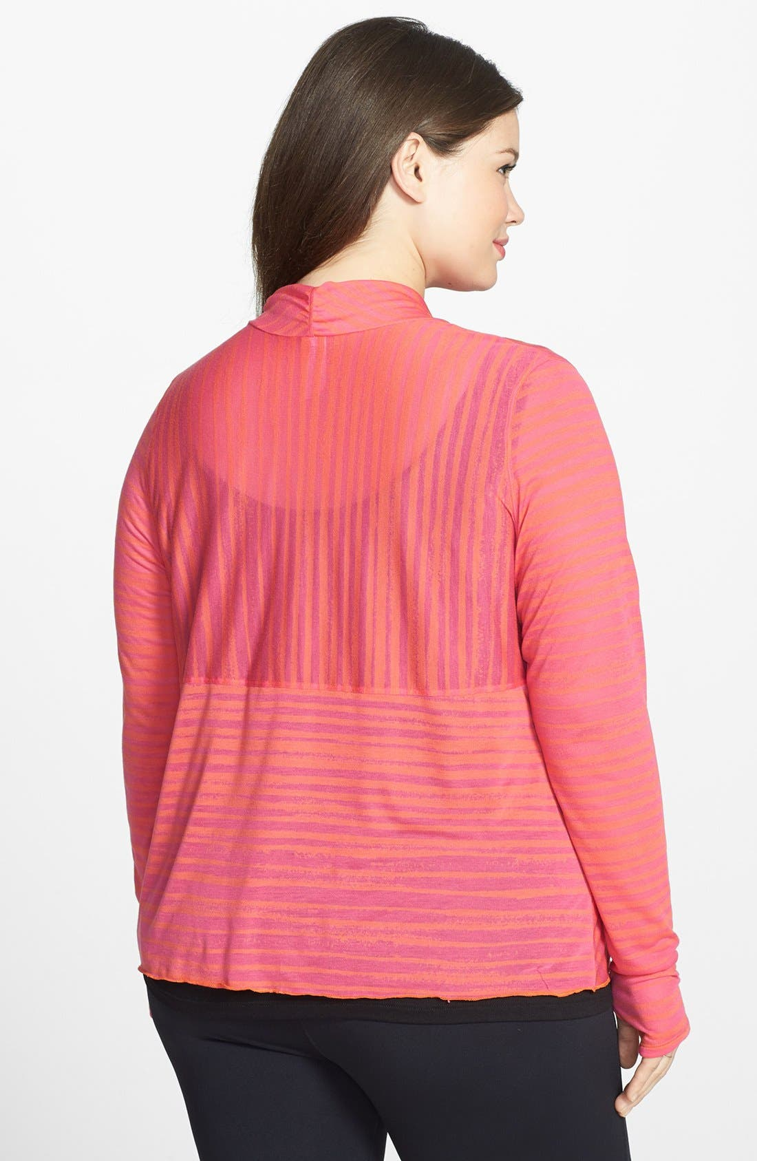 Alternate Image 2  - Moving Comfort 'Flaunt It' Wrap Cardigan (Plus Size)