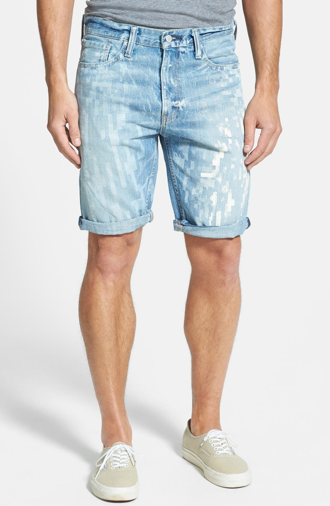 Alternate Image 1 Selected - Levi's® '508™' Tapered Fit Denim Shorts