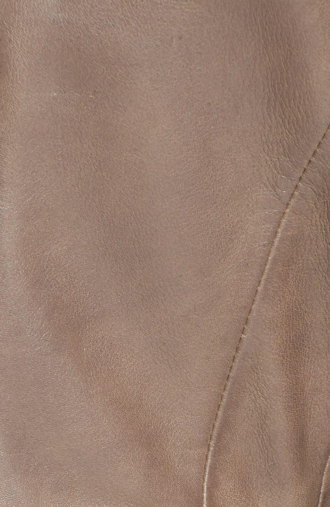 Alternate Image 3  - Elie Tahari 'Beverly' Curved Hem Leather Jacket
