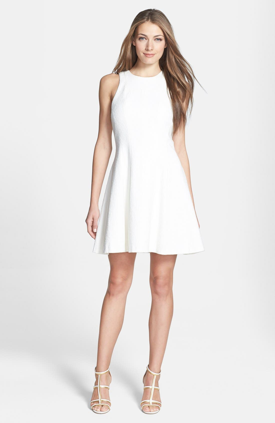 Alternate Image 1 Selected - Theory 'Maydra' Crepe Fit & Flare Dress