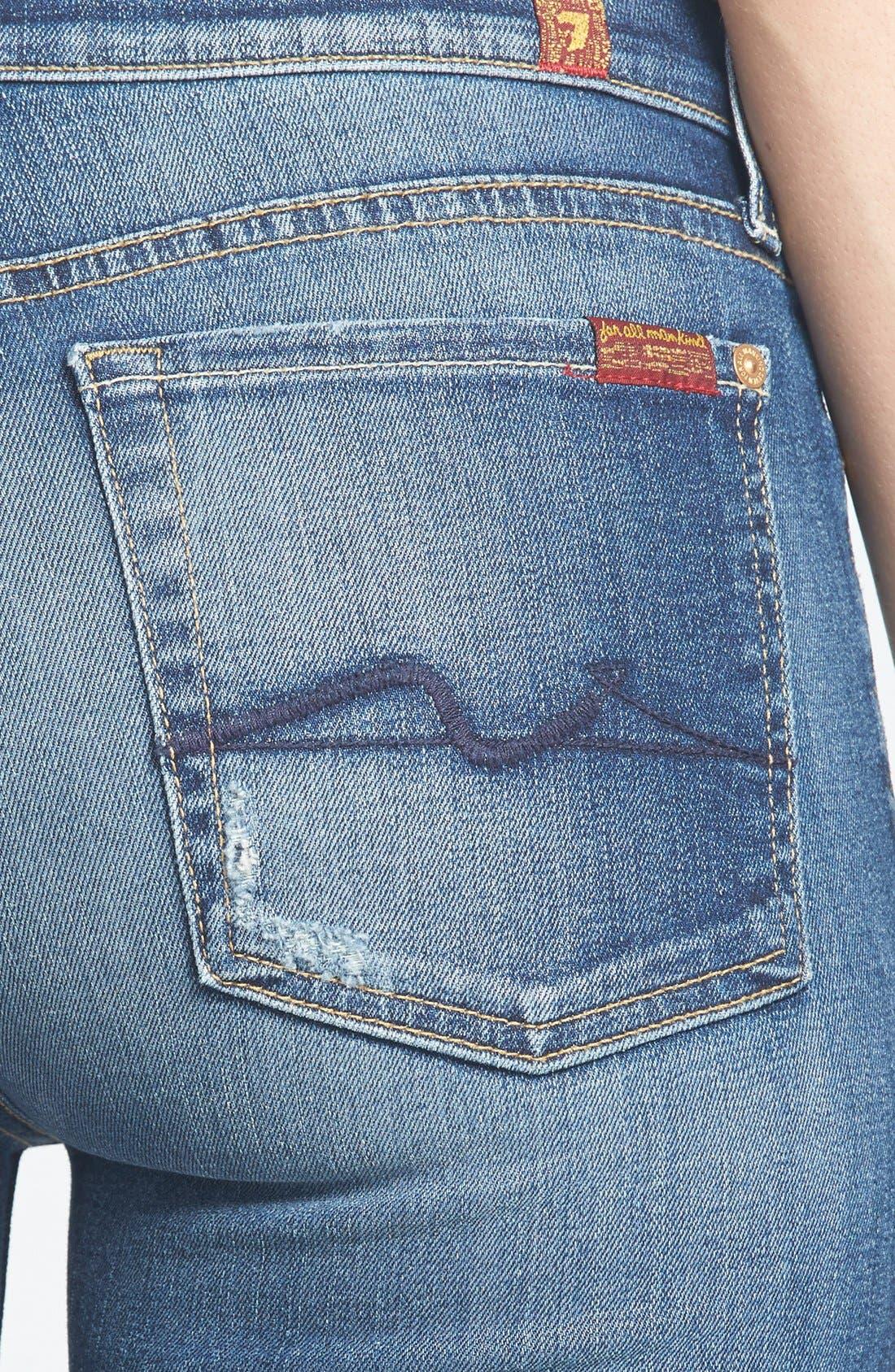 Alternate Image 3  - 7 For All Mankind® Ankle Skinny Jeans (Super Grinded Blue)