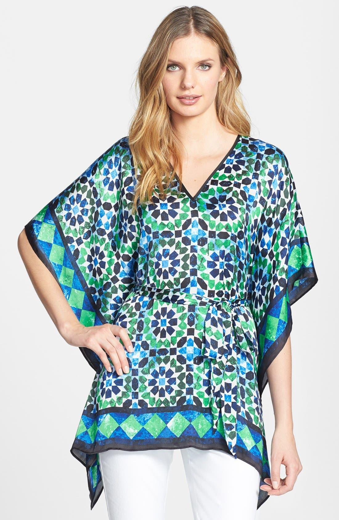 Main Image - MICHAEL Michael Kors Print Belted Kimono Tunic