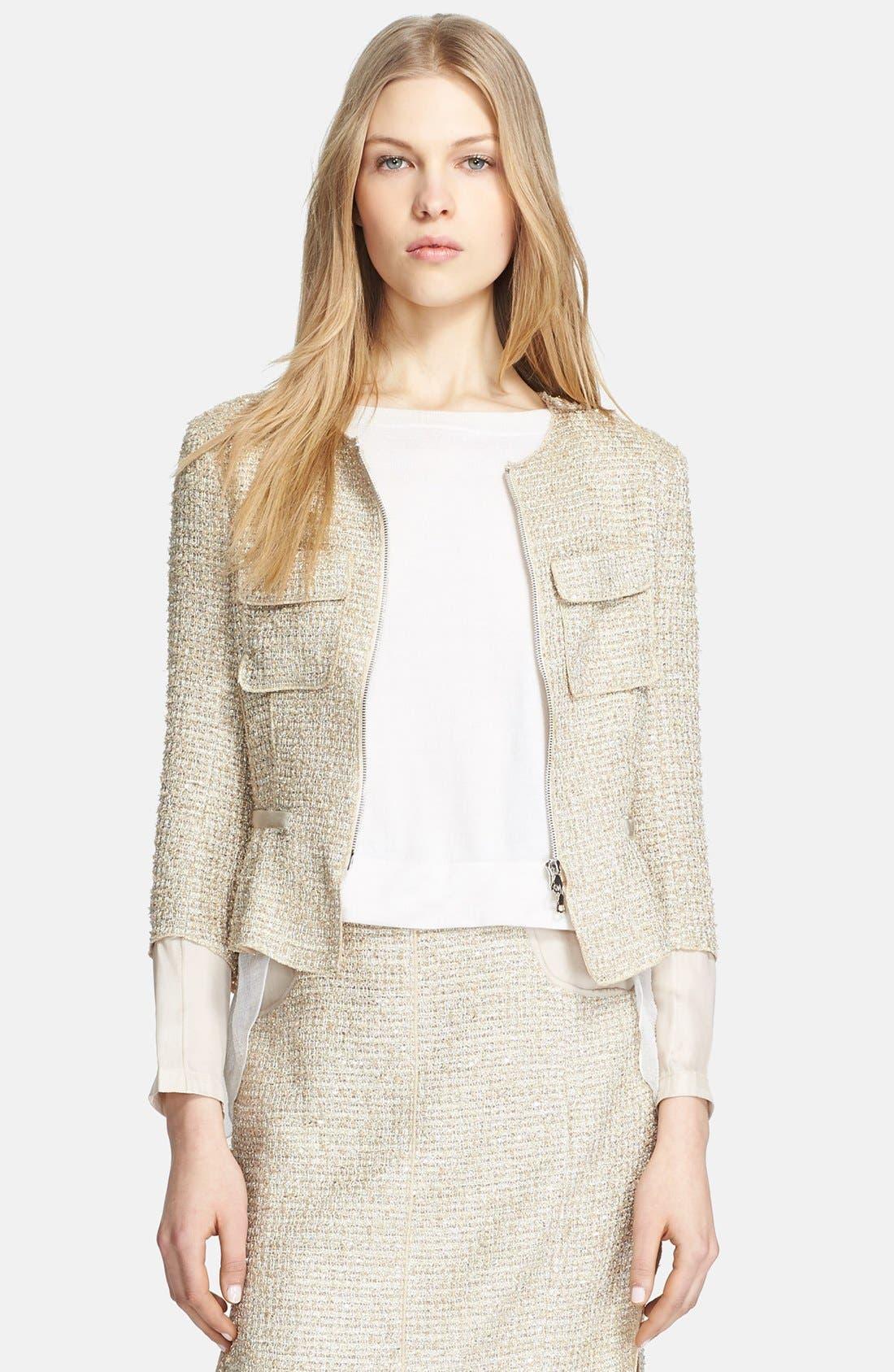 Main Image - Nina Ricci Contrast Back Tweed Jacket
