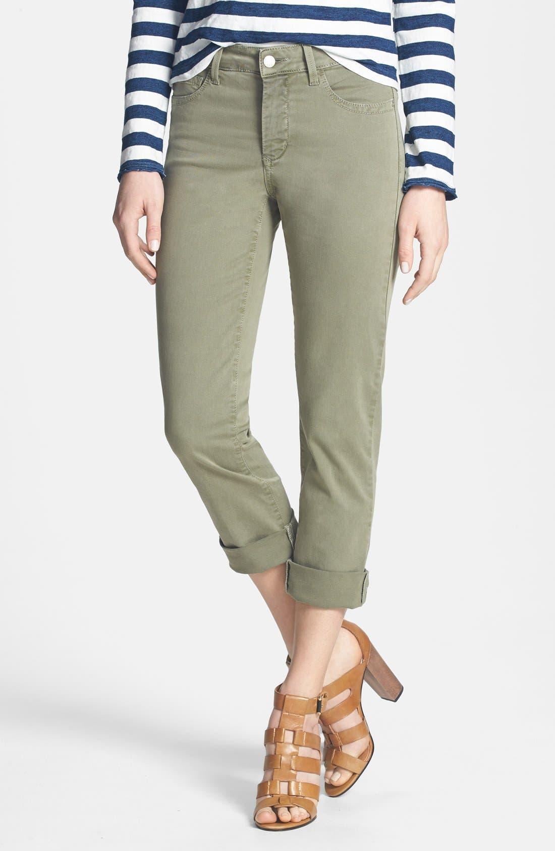 Alternate Image 1 Selected - NYDJ 'Bobbie' Stretch Boyfriend Jeans (Fennel) (Regular & Petite)