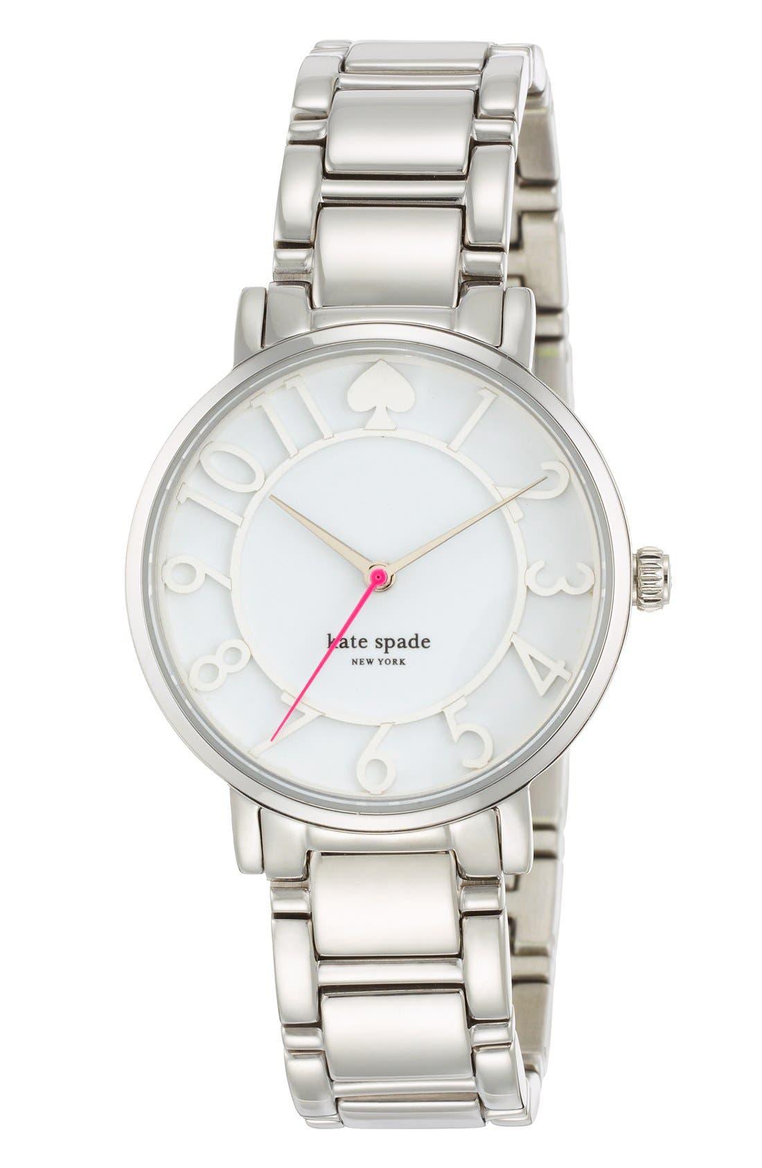 Alternate Image 3  - kate spade new york 'gramercy' round bracelet watch, 34mm