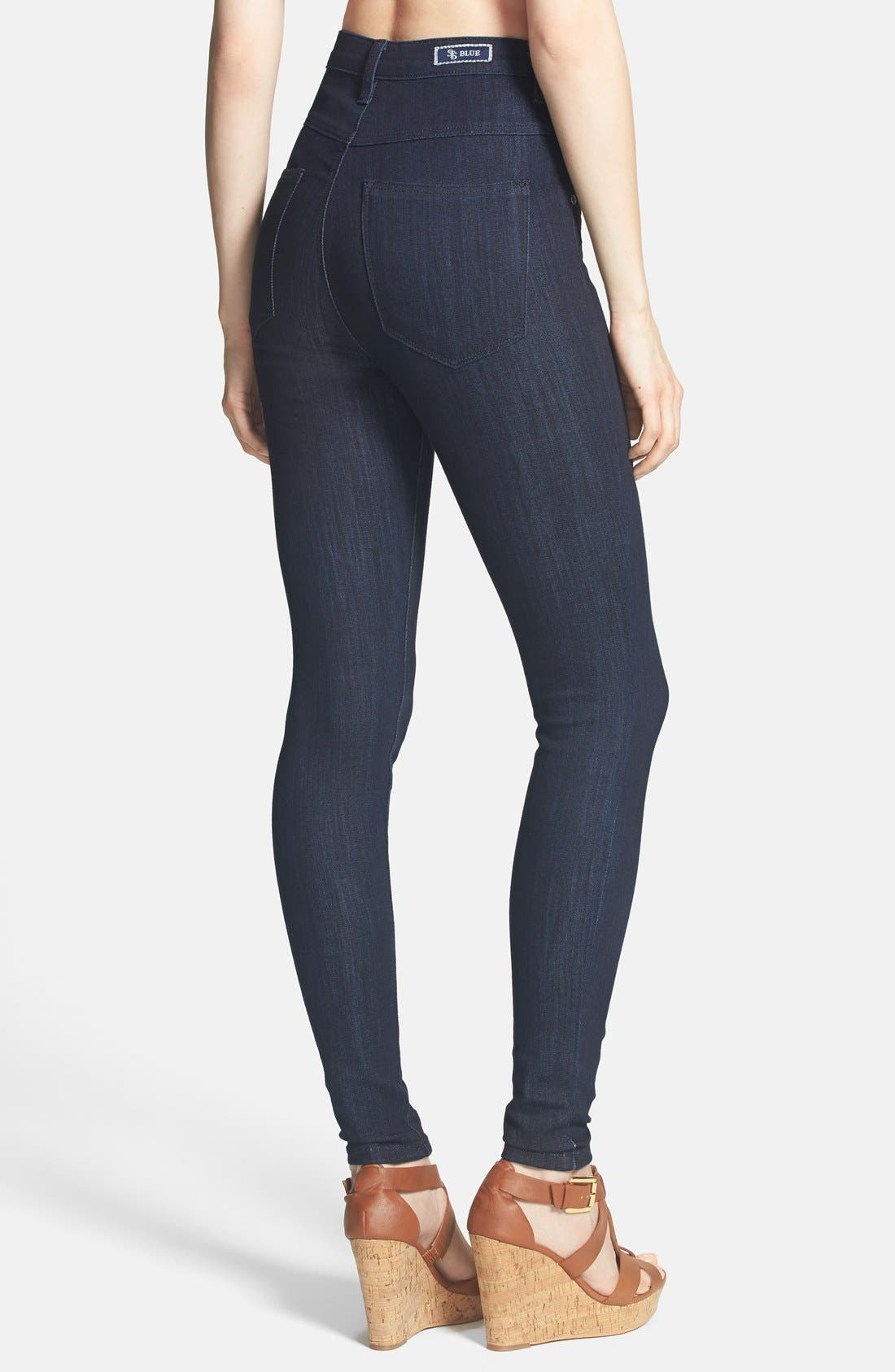 Alternate Image 2  - STS Blue High Waist Skinny Jeans (Juniors)