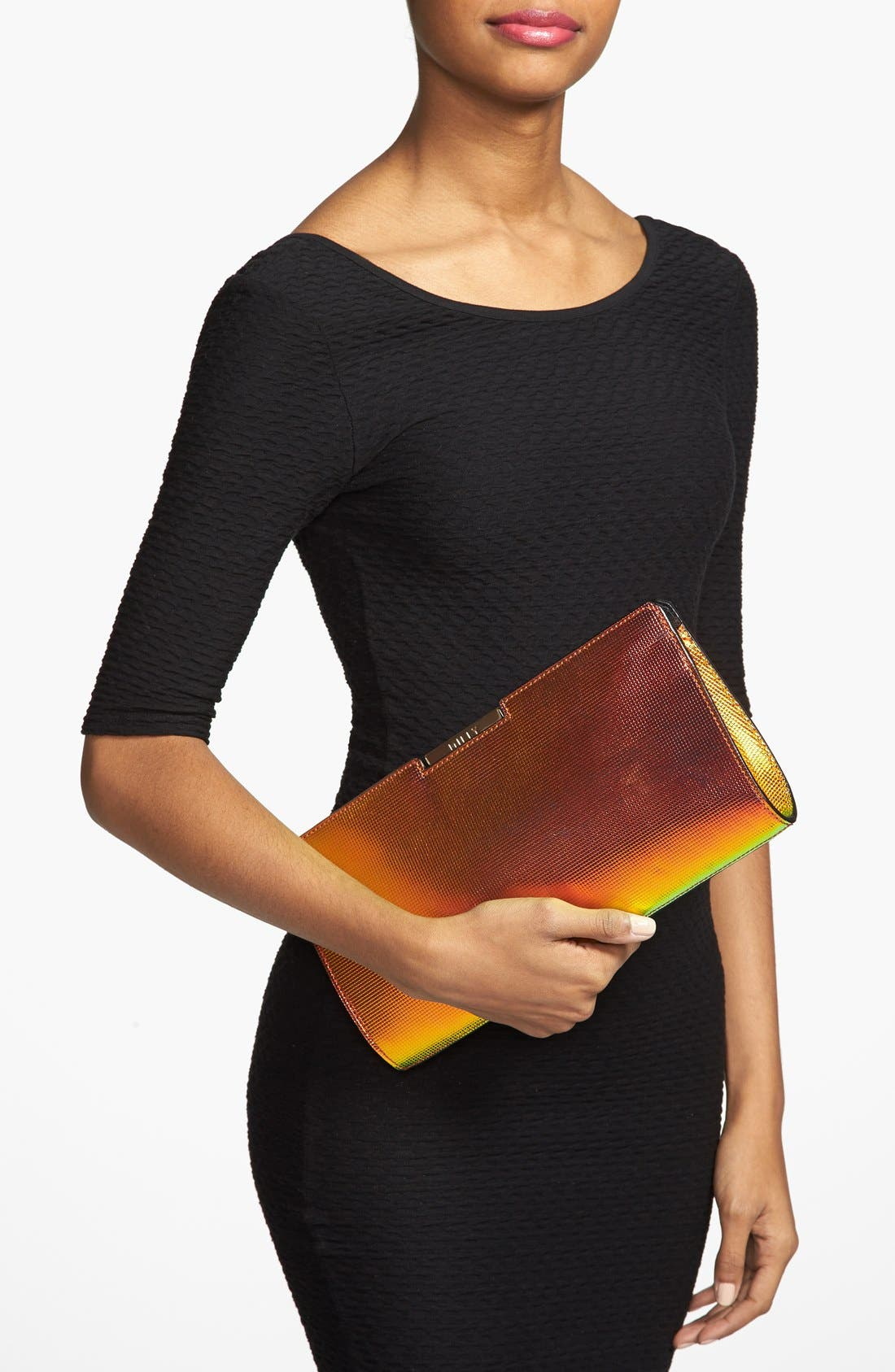 Alternate Image 2  - Milly 'Crosby' Iridescent Frame Clutch