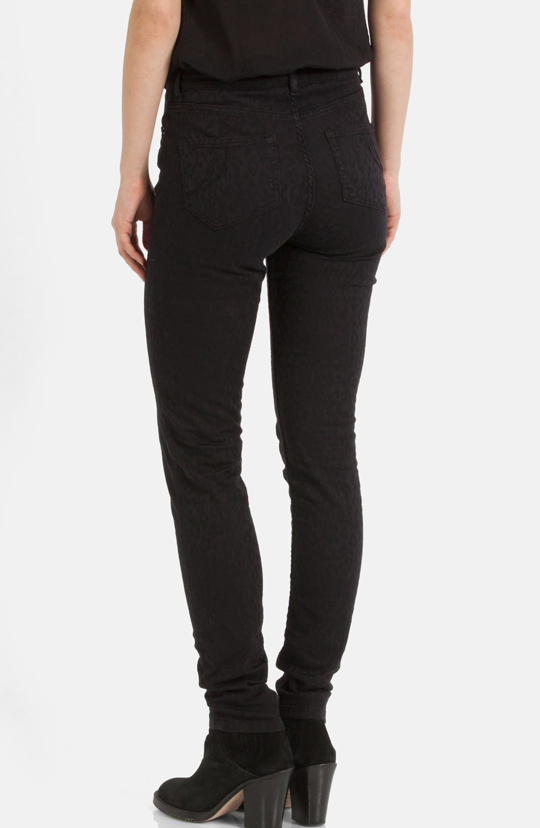Alternate Image 2  - maje 'Endless' Stretch Jacquard Skinny Jeans