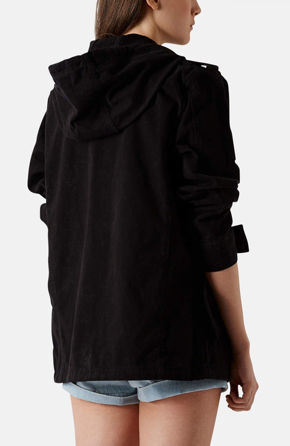 Alternate Image 2  - Topshop 'Ryan' Lightweight Cotton Parka