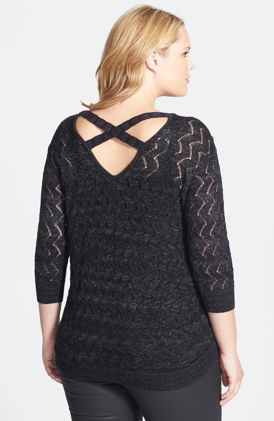 Alternate Image 2  - Sejour Cross Back V-Neck Sweater