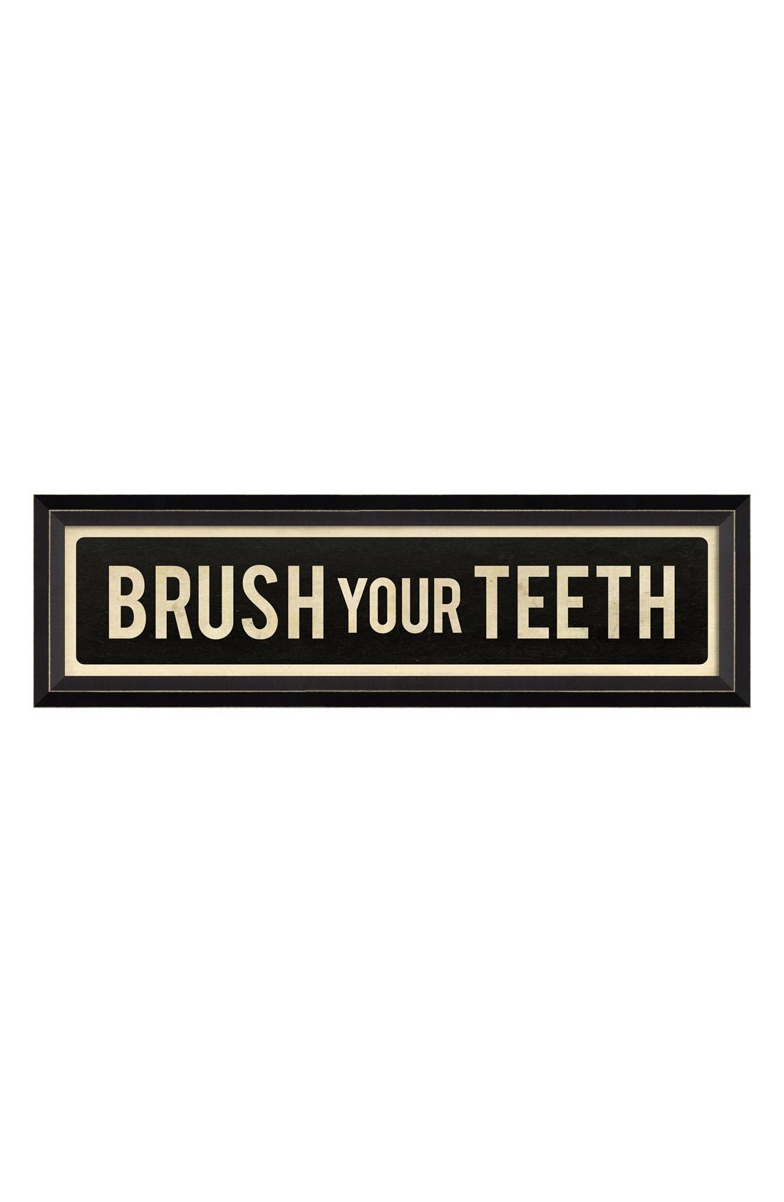 Main Image - Spicher and Company 'Brush Your Teeth' Vintage Look Sign Artwork