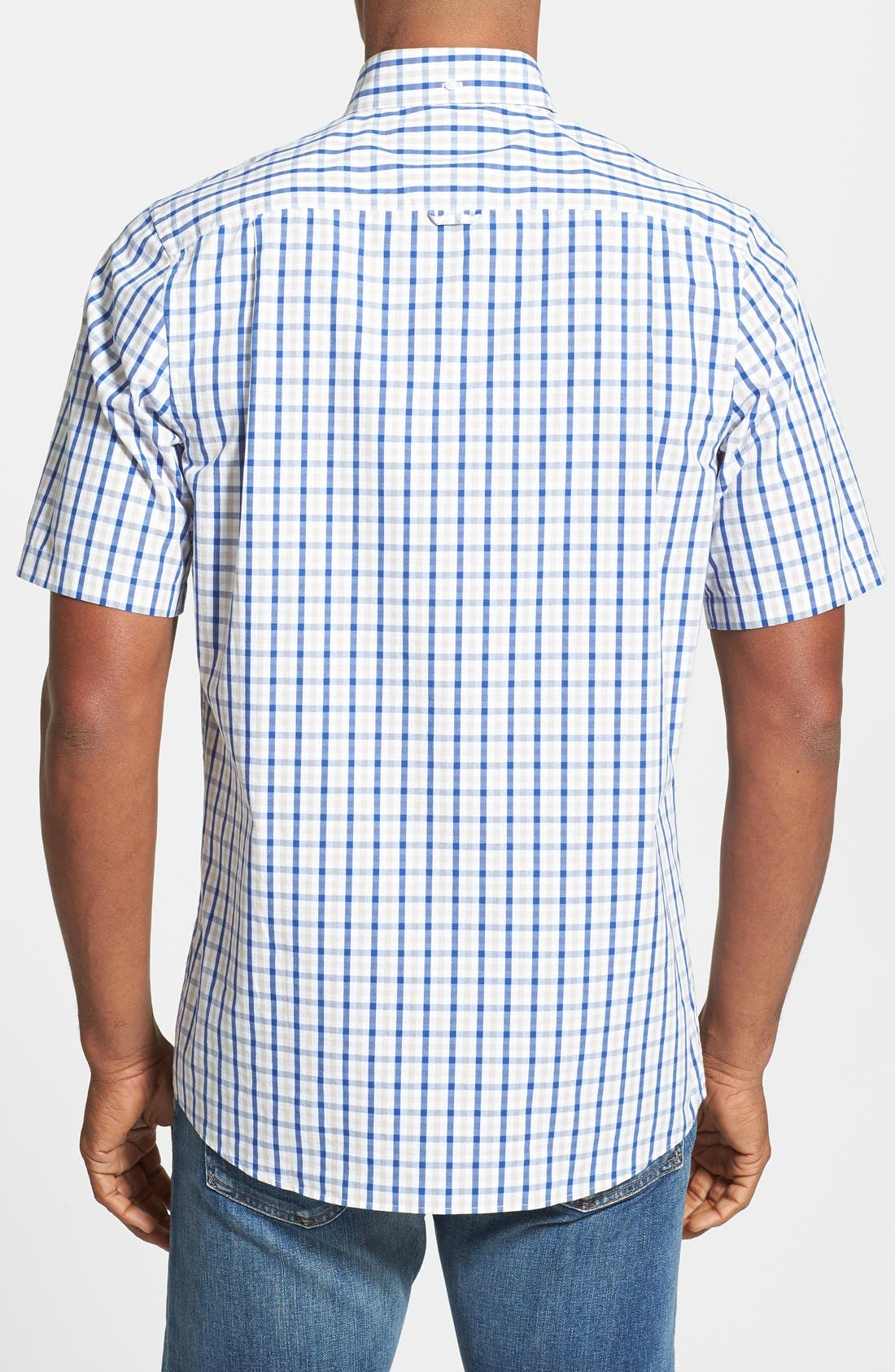 Alternate Image 2  - Nordstrom Regular Fit Short Sleeve Woven Sport Shirt