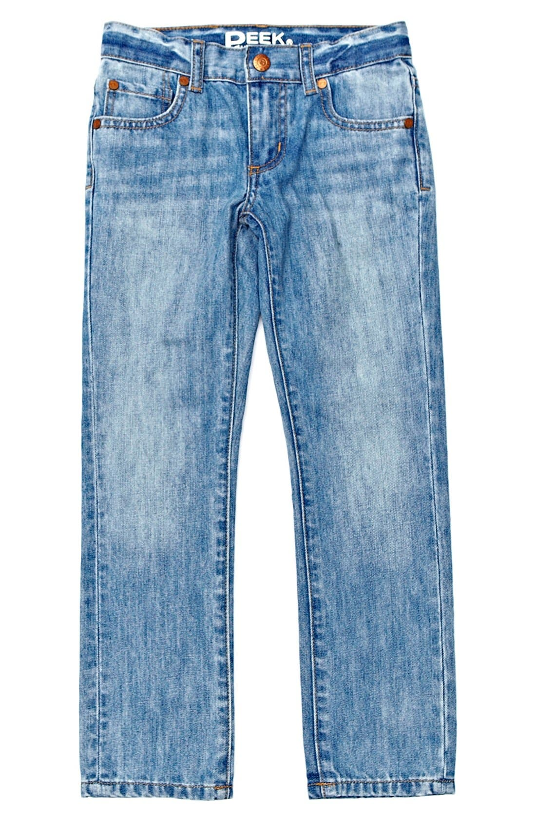 Alternate Image 2  - Peek 'Slouch' Jeans (Big Boys)