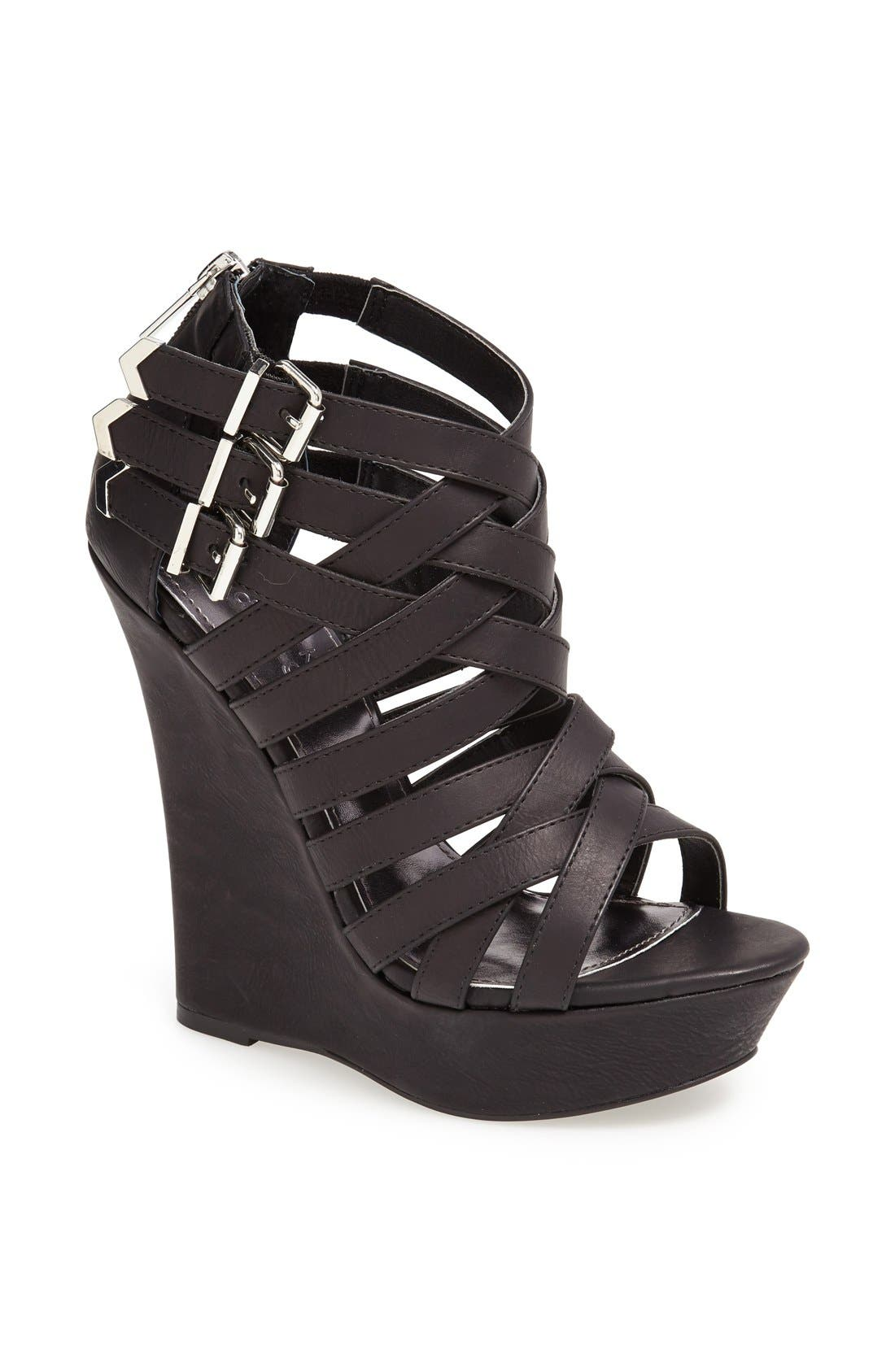 Alternate Image 1 Selected - KENDALL + KYLIE Madden Girl 'Fortune' Wedge Sandal