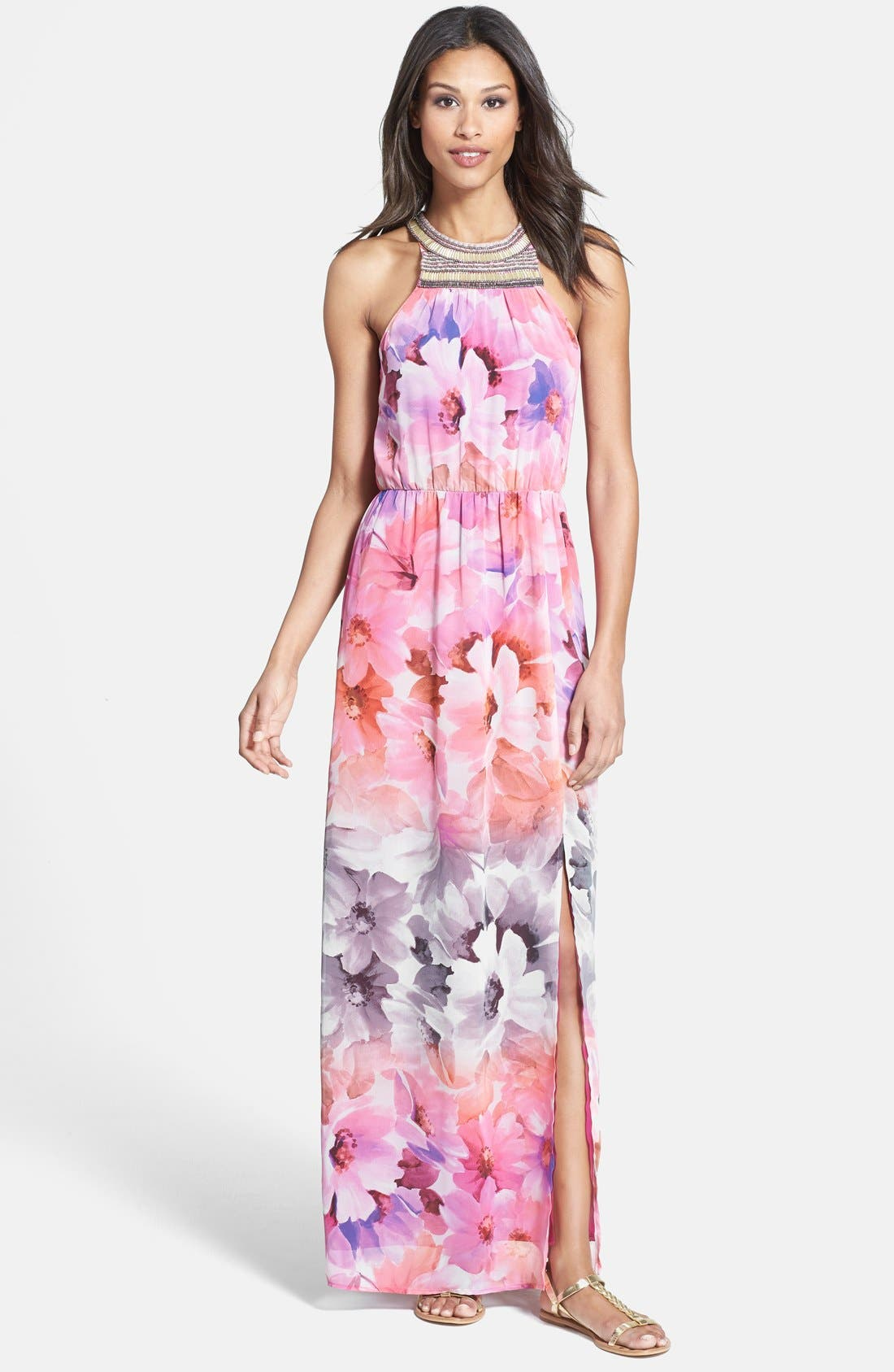 Alternate Image 1 Selected - Charlie Jade 'Ava' Print Maxi Dress
