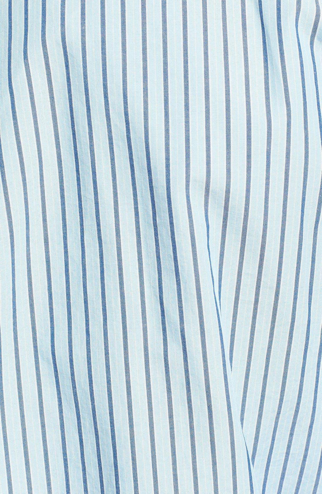 Alternate Image 3  - Haspel Slim Fit Oxford Stripe Button Down Sport Shirt