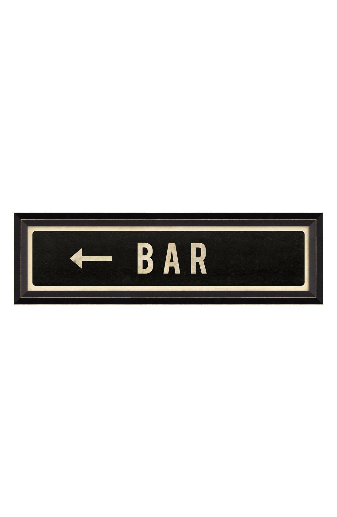 Main Image - Spicher and Company 'Bar Left' Vintage Look Street Sign Artwork