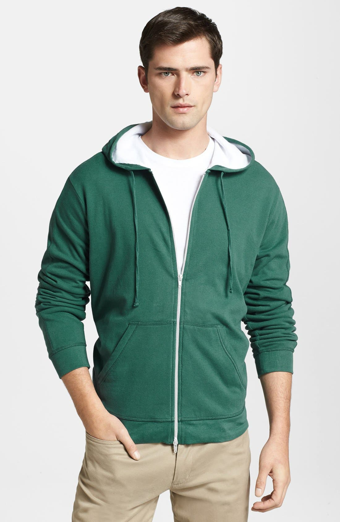 Alternate Image 1 Selected - Vince Lined Cotton Hoodie