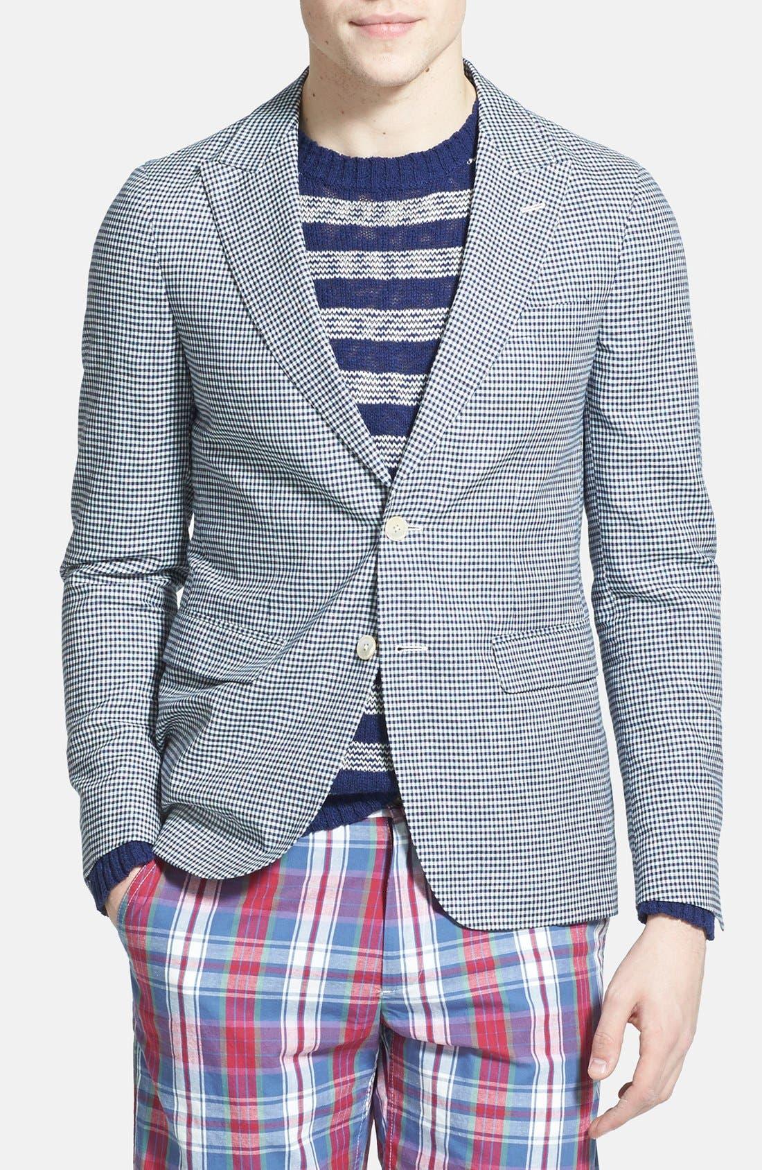 Alternate Image 1 Selected - Gant Rugger Linen & Wool Gingham Sportcoat
