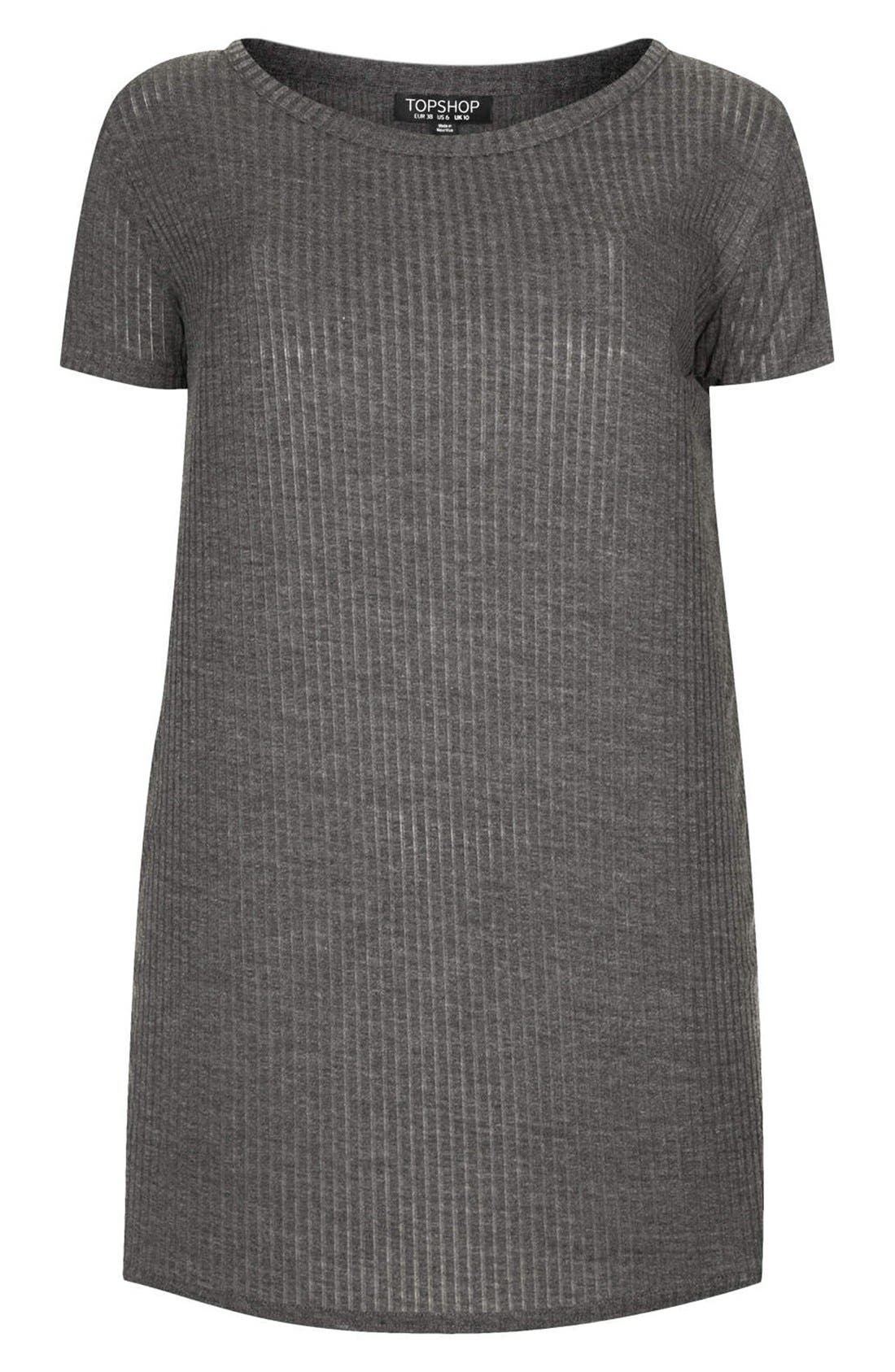 Alternate Image 3  - Topshop Ribbed Jersey Tunic Tee